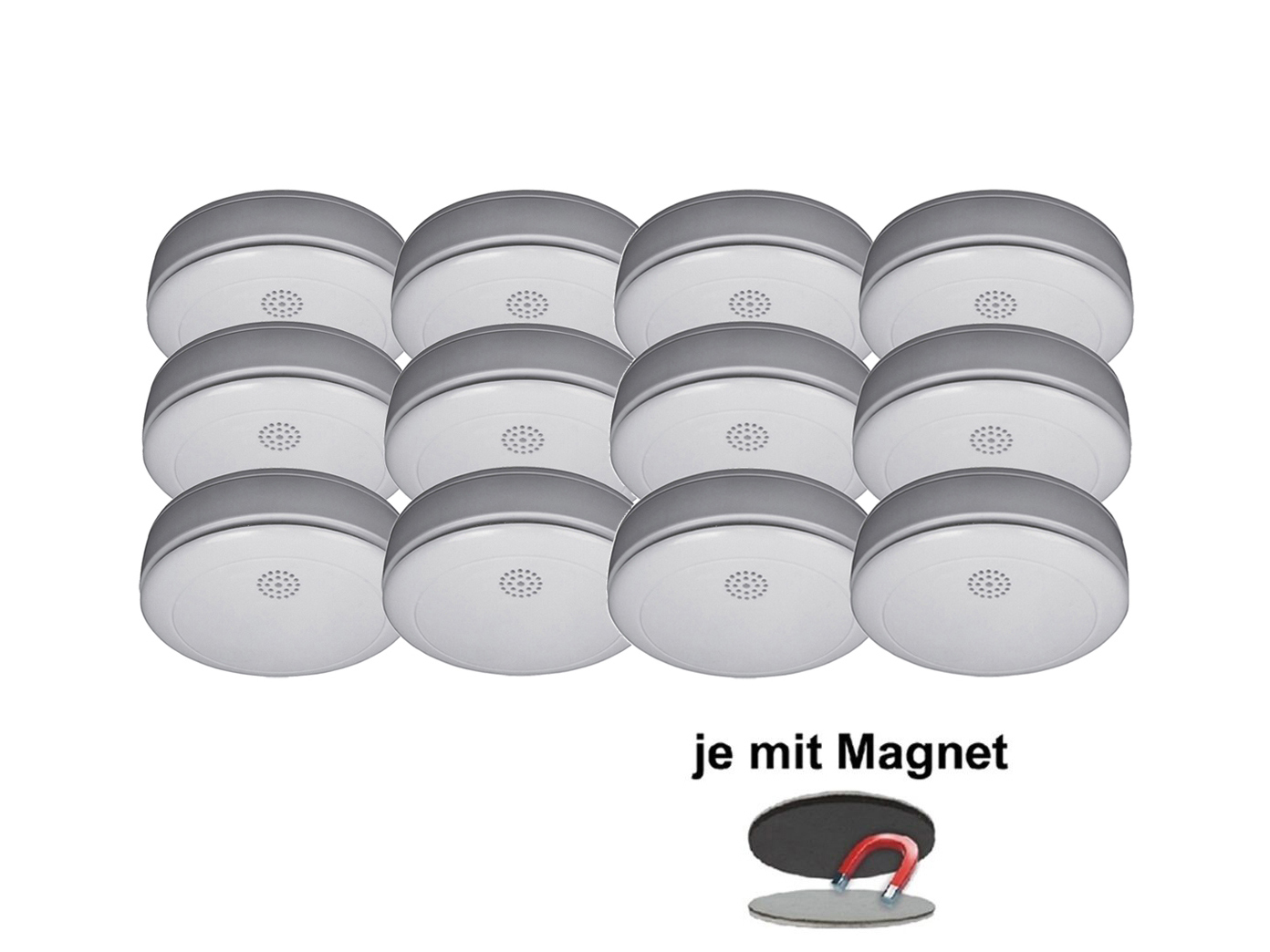 12er set rauchmelder 10 jahres batterie vds q siegel. Black Bedroom Furniture Sets. Home Design Ideas