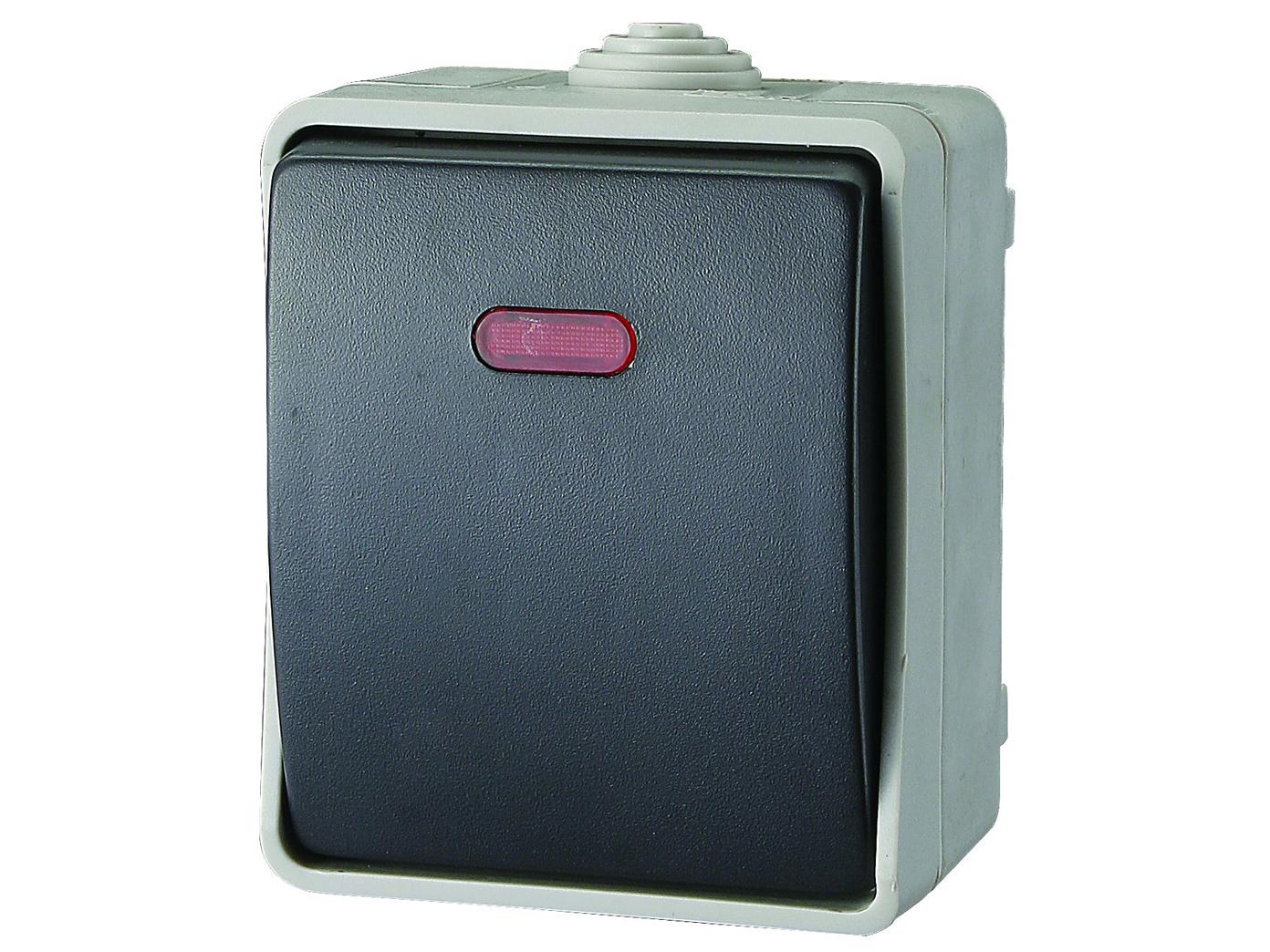 kontrollschalter feuchtraum lichtschalter mit kontrollleuchte taster schalter ebay. Black Bedroom Furniture Sets. Home Design Ideas
