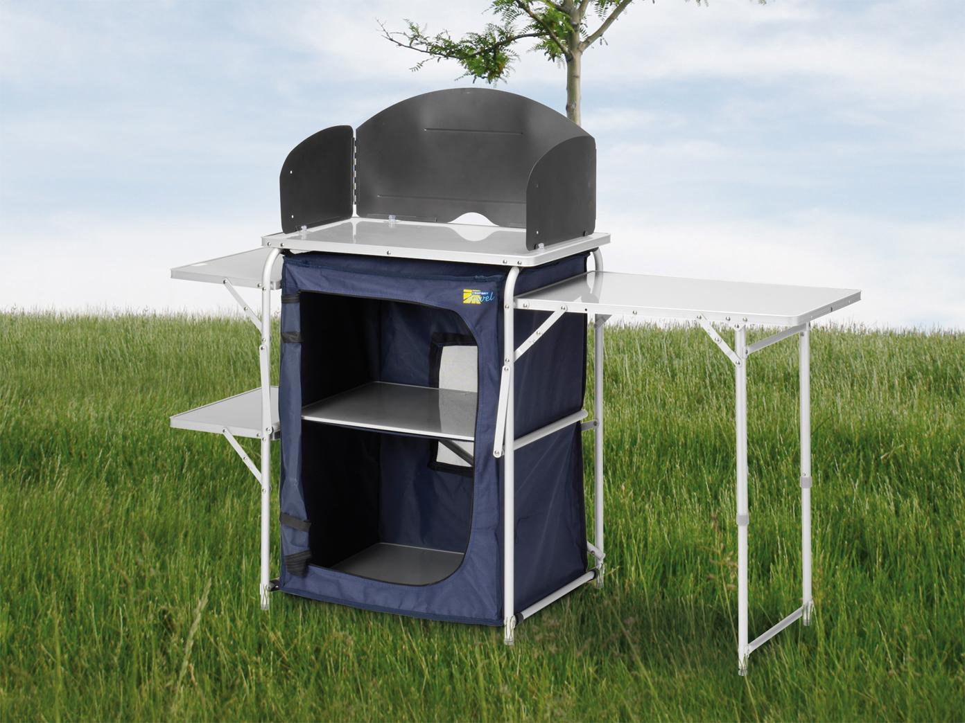 Campingküche multifunktional Campingmöbel 143x48cm Reiseküche Outdoorküche Outdoorküche Outdoorküche d6fc4f