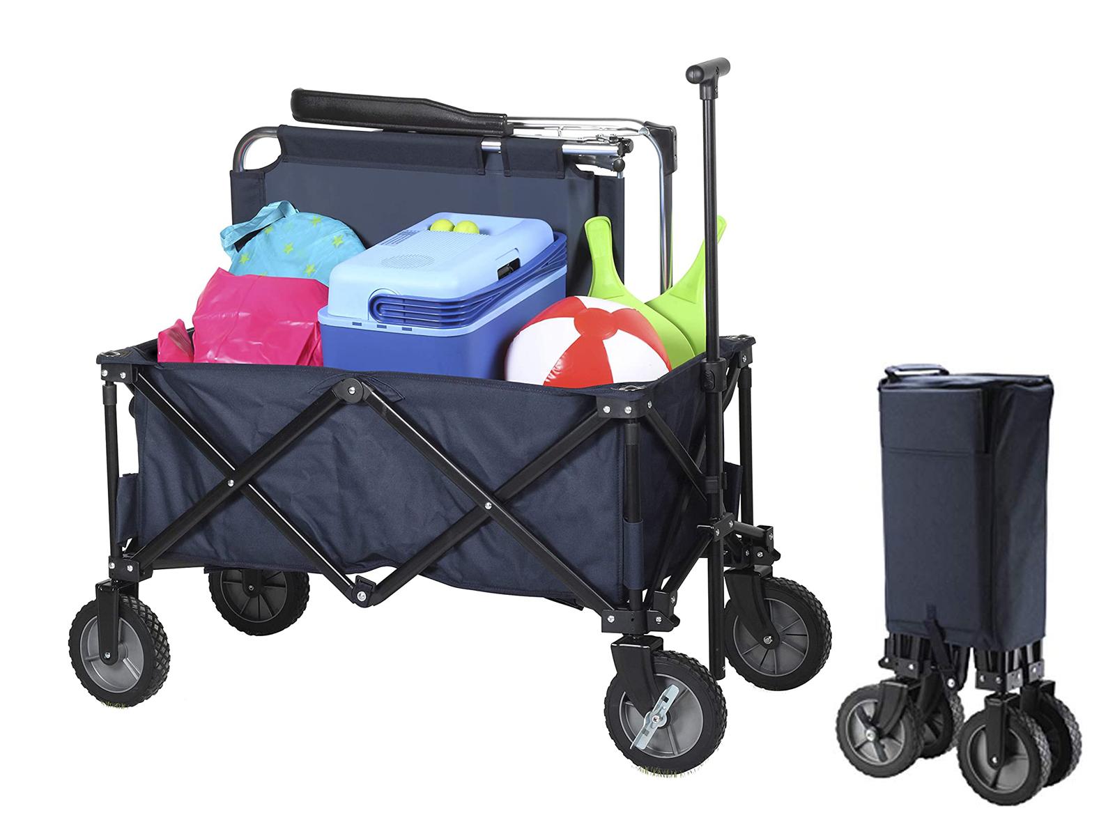 faltbarer bollerwagen bis max 70 kg strand transportwagen gummireifen eur 99 49 picclick de. Black Bedroom Furniture Sets. Home Design Ideas